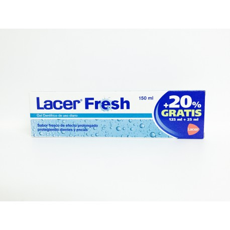 LACER FRESH GEL DENTÍFRICO +20% GRATIS 125ML + 25ML