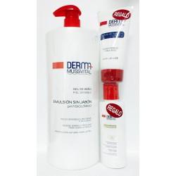 MUSSVITAL DERMA Gel de Baño piel atópic 1000 ml + Crema de manos + Leche hidratante piel atopic
