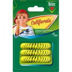 RELEC PULSERAS CALIFORNIA AROMATICAS REPELENTE MOSQUITOS PACK 3UDS
