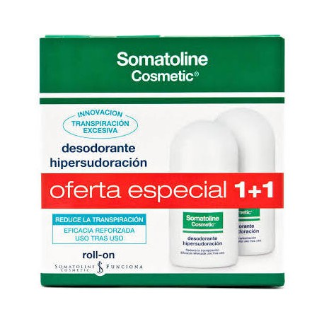 Somatoline Desodorante Hipersudoración Roll-on Duplo 2x30ml