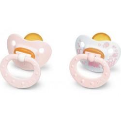 NUK Classic Chupete de Látex Baby Rose Talla 1 Color ROSA 2ud