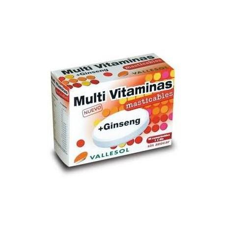 Vallesol Multi Vitaminas Vitalidad + Ginseng 24 comp.