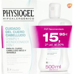 Physiogel champú acondicionador cuero cabelludo sensible 250 ml 2ud. al 30%
