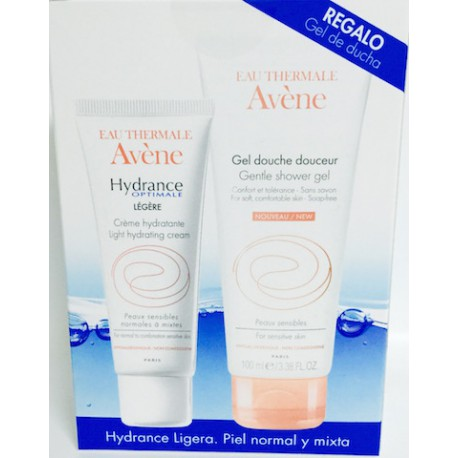 Avene Hydrance Optimale Ligera 40 Ml. Piel Normal Y Mixta + Gel De Ducha