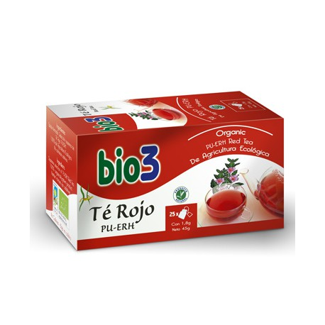 Bio3 Té Rojo Pu-erh 25 Bolsitas