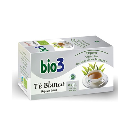 Bio3 Té Blanco Ecológico 25 Bolsitas