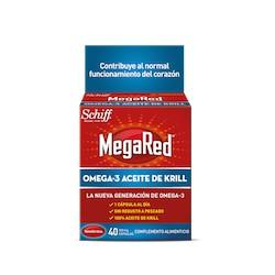 Megared 500 Mg Omega 3 Aceite De Krill 40 C