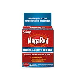 Megared 500 Mg Omega 3 Aceite De Krill 60 C