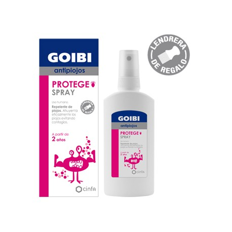 GOIBI PROTEGE SPRAY ANTIPIOJOS 125 ML LENDRERA DE REGALO