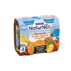 NESTLÉ NATURNES Merienda Frutas Selectas con galleta 2X200g +4meses