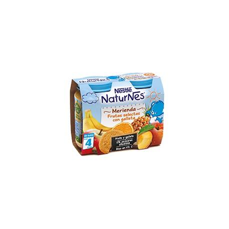 NESTLÉ NATURNES Merienda Frutas Selectas con galleta 2X200g
