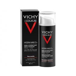Vichy Homme Hydra Mag C+ Hidratante facial Anti-fatiga para hombre, 50 ml.