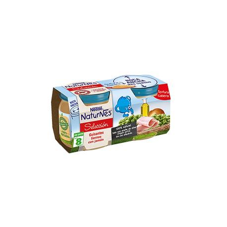 NESTLÉ NATURNES SELECCIÓN Guisantes tiernos con jamón 2x200 +6