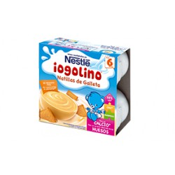 Iogolino natillas de galleta 100 gr x 4uds