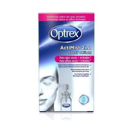 Optrex Spray Actimist 2 en 1 Ojos Secos