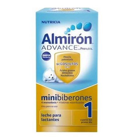 Almirón Advance con Pronutra 4 monodosis de 70 ml + 4 tetinas esterilizadas