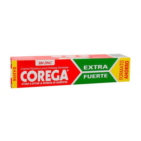 Corega  Crema Extra Fuerte Adhesivo Protesis Dental 40ml