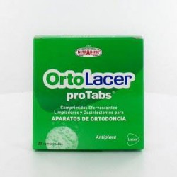 Ortolacer Protabs Limpiador Y Desinfectante Ortodoncia 20 Comprimidos