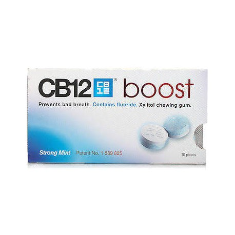 CB12 boost Strong Mint 10 chicles sin azucar