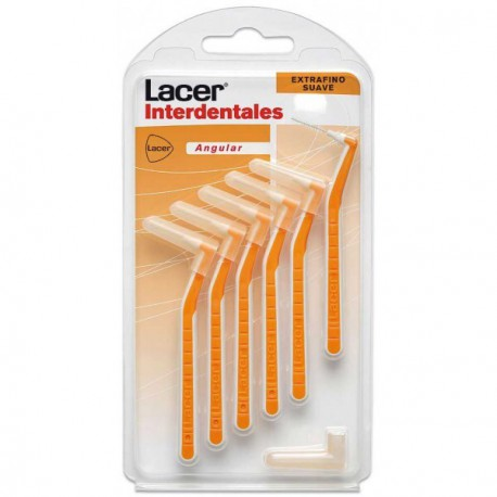 Lacer Interdentales Extrafino Suave Angular 6 uds.