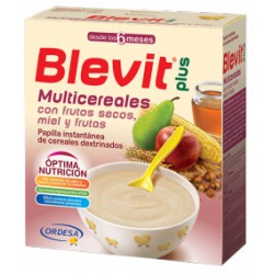 Blevit plus Multicereales con frutos secos, miel y frutas Desde los 6 meses 300 gramos