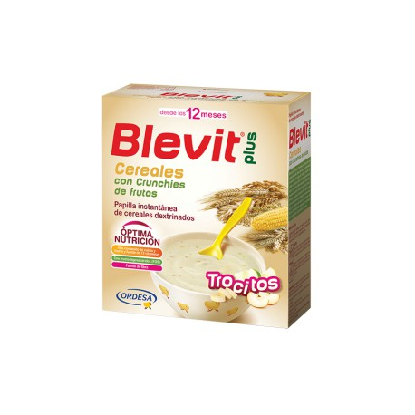 Blevit plus Trocitos Cereales con Crunchies de frutas Desde los 12 meses  600 gramos