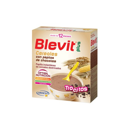 Blevit plus Trocitos Cereales con pepitas de chocolate Desde los 12 meses 600 gramos