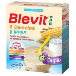 Blevit plus Duplo 8 Cereales y yogur Desde los 5 meses 600 gramos