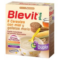 Blevit plus Duplo 8 Cereales con miel y galletas maría Desde los 5 meses 600 gramos