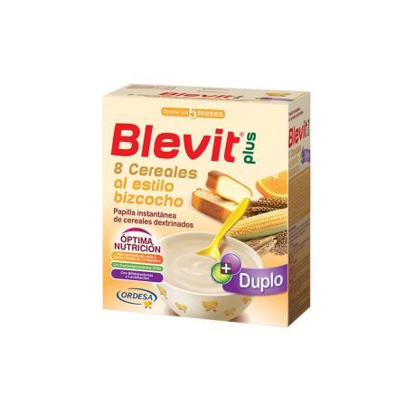 Blevit plus Duplo 8 Cereales al estilo bizcocho Desde los 5 meses 600 gramos