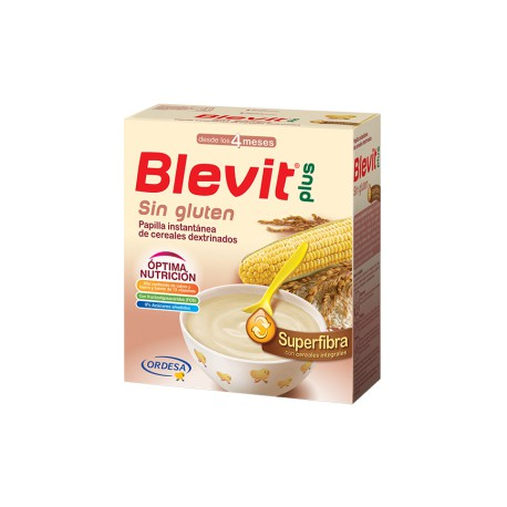 Blevit plus Superfibra Sin gluten Desde los 4 meses 600 gramos