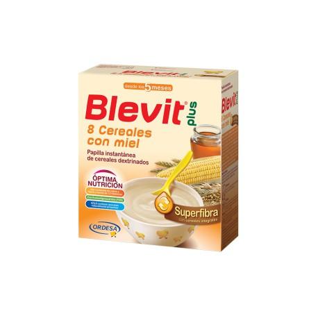 Blevit PAPILLA 8 CEREALES CON EFECTO BÍFIDUS SUPERFIBRA BLEVIT PLUS 600 GR 5M+