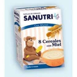 Sanutri 8 cereales con miel 600 gr +6m