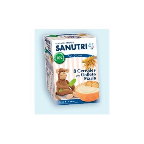 Sanutri 8 cereales con galleta maría 600 gr +6m