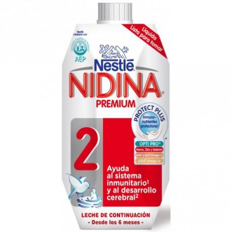 Leche líquida nidina premium 2 nestlé 500 ml 6m+