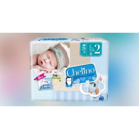 Chelino F&L Pañal Recien Nacido Talla 2 3-6 Kg 28 U