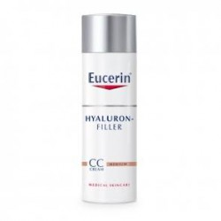 Eucerin hyaluron filler cc cream tono medio 50 ml.