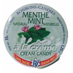 Caramelos a la crema Menta natural sin azúcar