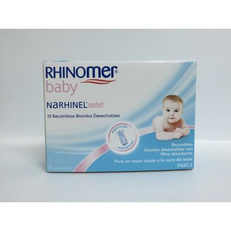 Narhinel Confort Aspirador Recambio 10 U Blando Desechable