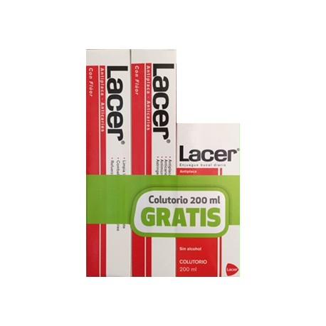 Lacer Pasta Pack 2 x 125 ml + Colutorio 200 ml Gratis