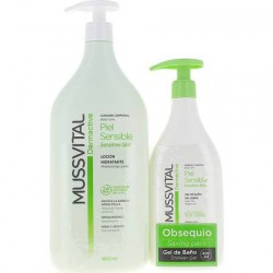 Mussvital Dermactive Locion Hidratante Piel Sensible 1000ml + Regalo Gel 400ml