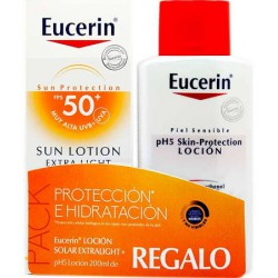 Eucerin Sun Locion Extralight Spf50 200Ml + Regalo Ph5 Locion 200Ml