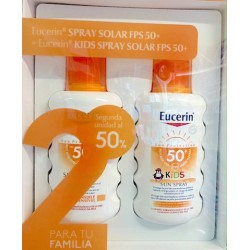 Eucerin Solar Pack Familiar: Spray Solar SPF50+ 200ml + Spray Solar Niños SPF50+ 200ml