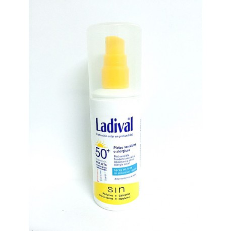Ladival Pieles Sensibles o Alérgicas Spray FPS 50+ 150 ml