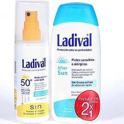 Ladival Duplo Pieles Sensibles o Alérgicas SPF50+ Spray 150ml + After Sun 200ml