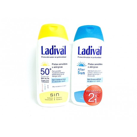 Ladival Piel Sensible Spf 50+ 200 ml + Ladival After Sun 200 ml