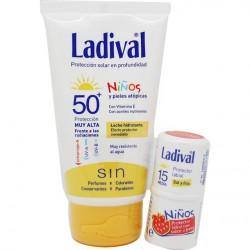 Ladival niños Spf 50+ leche hidratante 75 ml + Protector Labial 4 ml