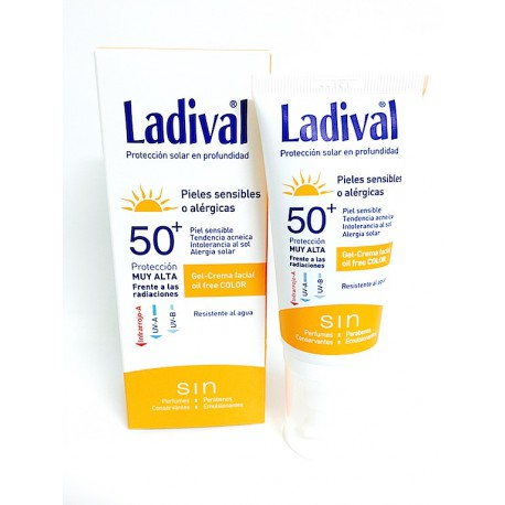 Ladival Pieles Sensibles O Alérgicas Fps 50+ Facial Color 50 ml Gel Crema