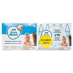 Kin Baby Aspirador Nasal + 10 Recambios Blandos Desechables