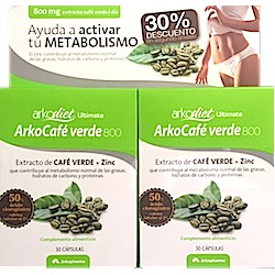 Arkodiet Café Verde + Zinc 2X30 Cápsulas Arkopharma
